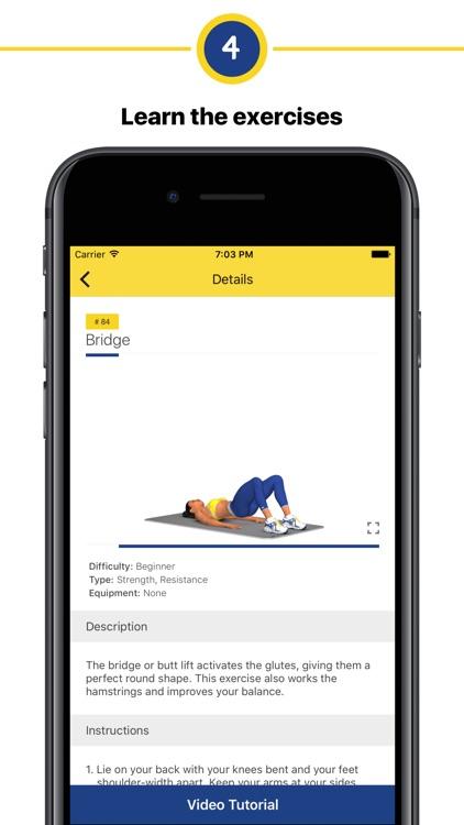 Butt workout - 4 week program screenshot-3