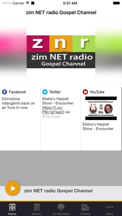 zim NET radio Gospel Channel screenshot one