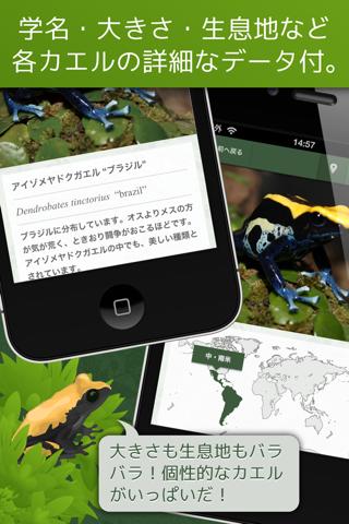 Screenshot of あわしま世界のカエル図鑑