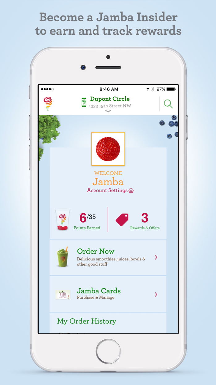 Jamba Juice Screenshot