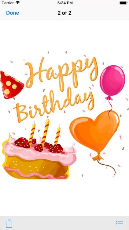 Birthday Greeting Wishes Card screenshot-3
