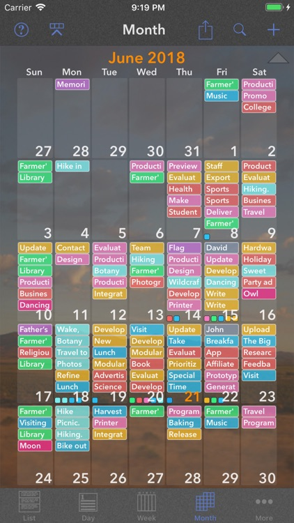 Perspectiva: Calendars, Charts screenshot-3