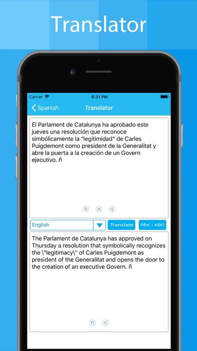 Spanish Keyboard - Translator screenshot four