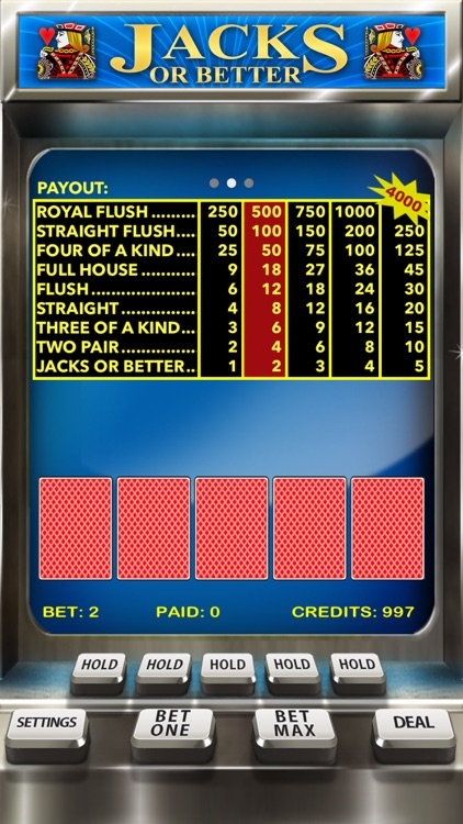 Video Poker Casino - Card Game screenshot-2