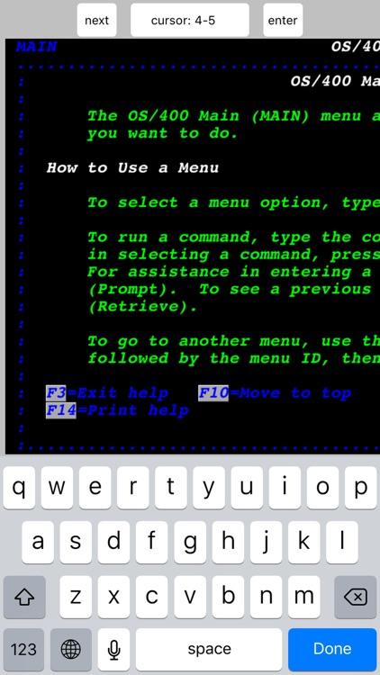 TN5250 screenshot-3
