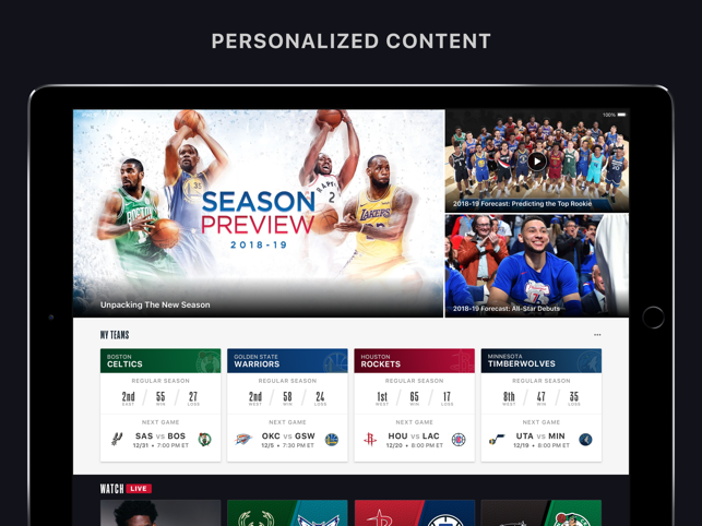 how to watch nba league pass on apple tv
