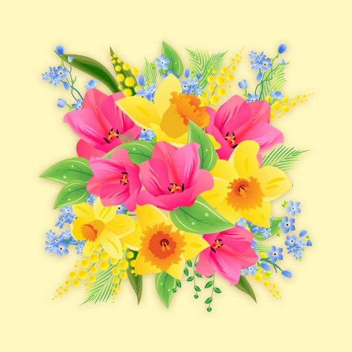 Loving Flower Stickers iOS App