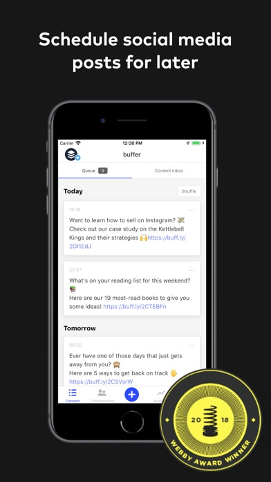 Buffer review screenshots