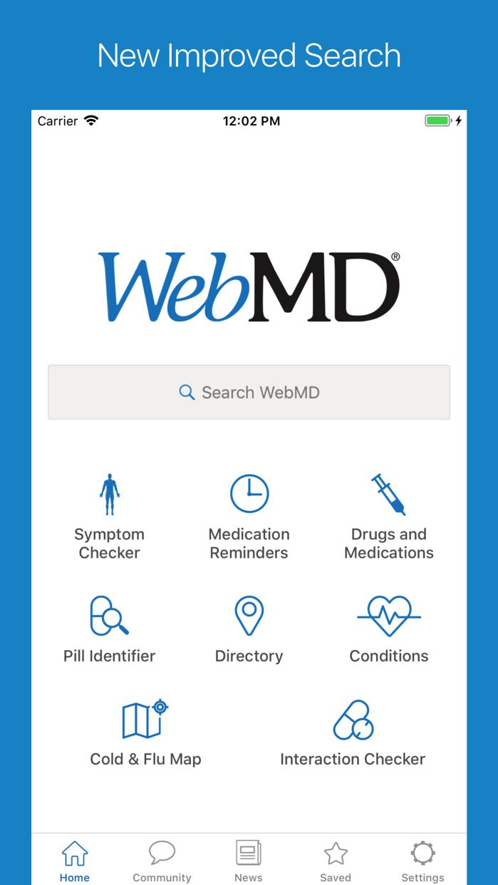 WebMD Screenshot