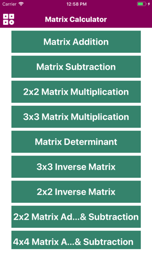 Calculator Of Matrix on the App Store