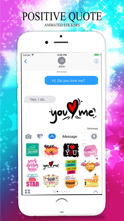 Animated POSITIVE & MOTIVATIONAL Quotes Stickers screenshot-4