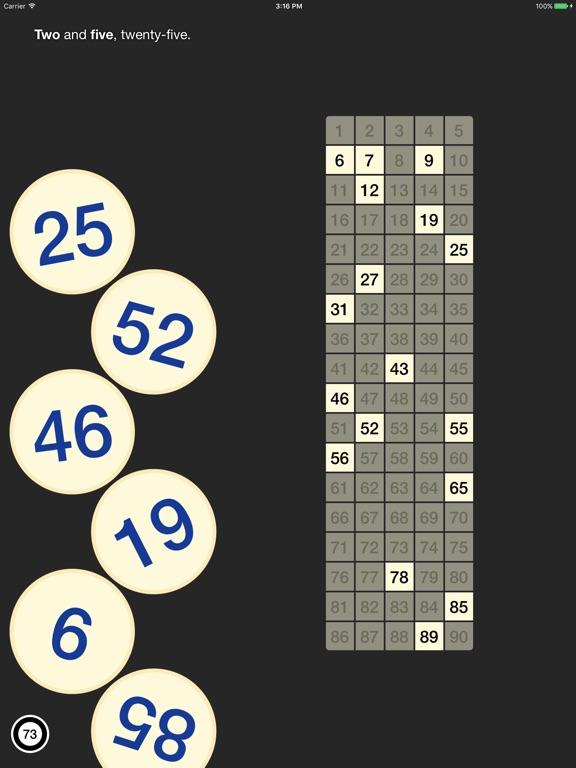 Bingo Machine - Number Caller Screenshots