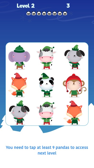 Screenshot for Touch The Panda! Xmas in United States App Store