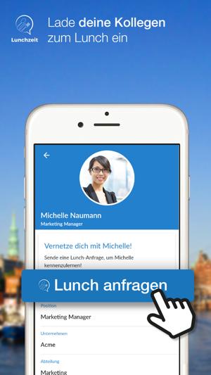 Lunchzeit Business Networking Screenshot