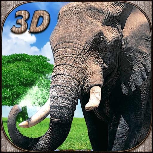 Слон 3D симулятор - наслаждайтесь города буйство с дикими животными