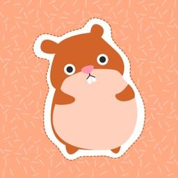 Happy Hamster Stickers
