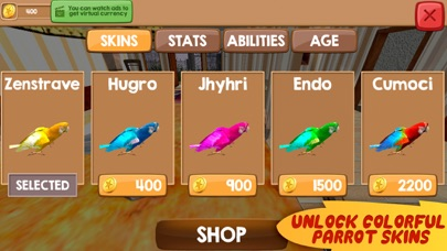 Home Pet Parrot Simulator Screenshot on iOS