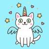 Unicorn Cats Stickers Pack App