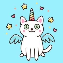 Unicorn Cats Stickers Pack App