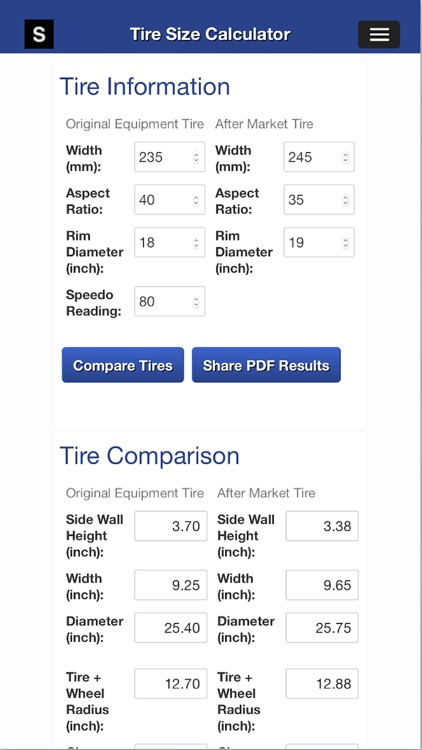 Gear Speed and Tire Size screenshot-3