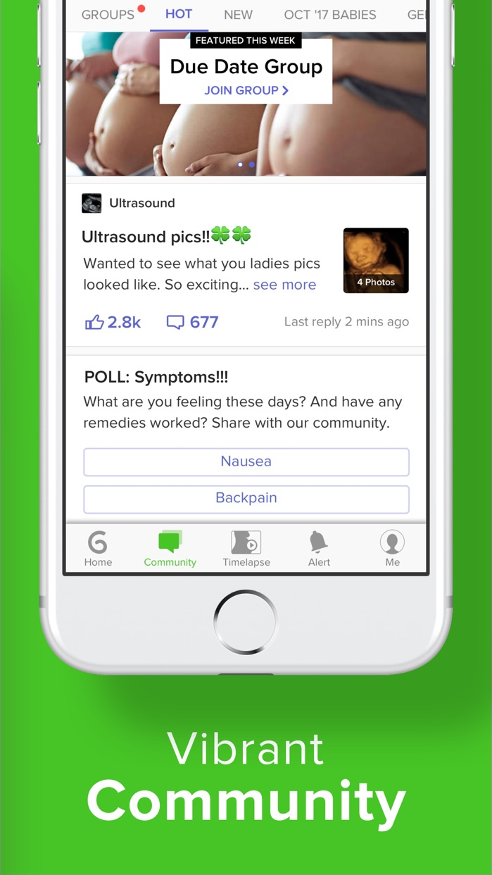 Pregnancy & Baby App - Nurture Screenshot