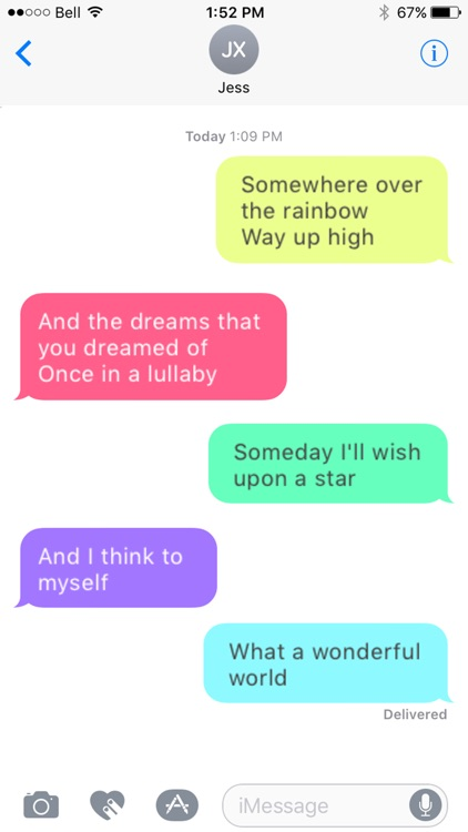 Message Makeover for iMessage - Colorful Bubbles screenshot-3