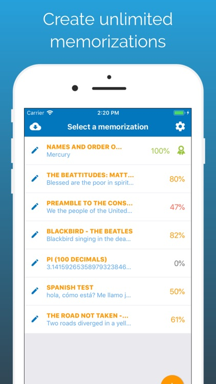 Memorize By Heart: Learn texts