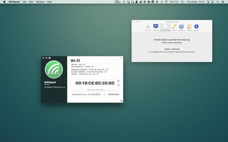 WiFiSpoof 3 4 4 – Change your WiFi MAC address | macOS