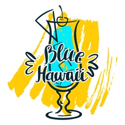 Blue Hawaii Fantasy Stickers
