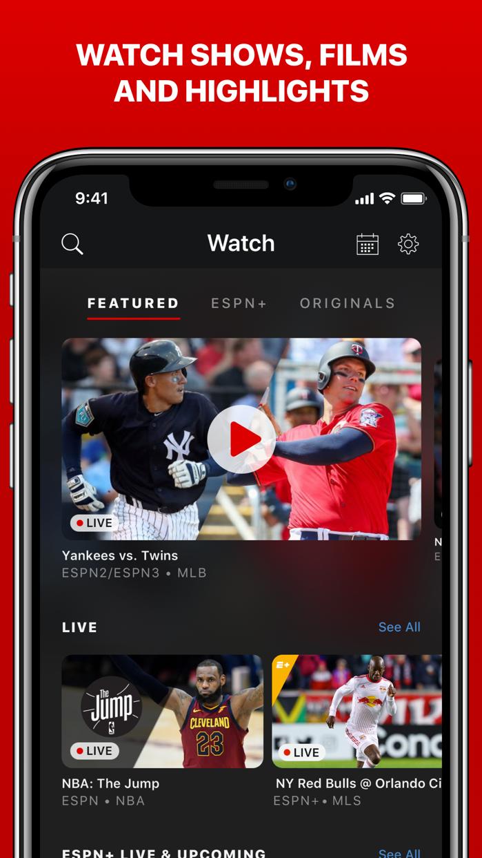 ESPN: Live Sports & Scores Screenshot
