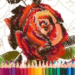 Rose Pixel Art
