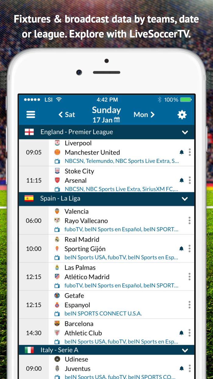 Live Soccer TV: Scores & Stats Screenshot