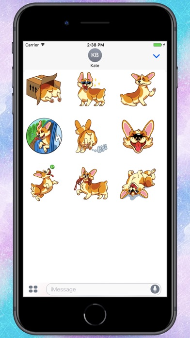 Screenshot for Corgeous Dog Stickers in Colombia App Store