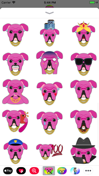 Pink Bling Hip Hop Bulldog screenshot three
