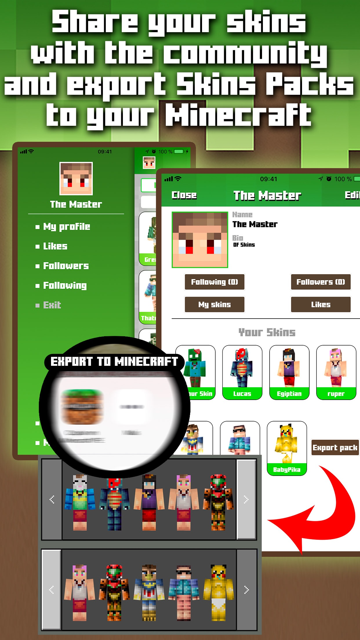 Skins for Minecraft MCPE Screenshot