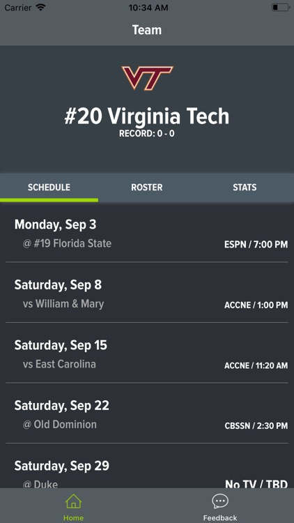 Virginia Tech Football screenshot-0