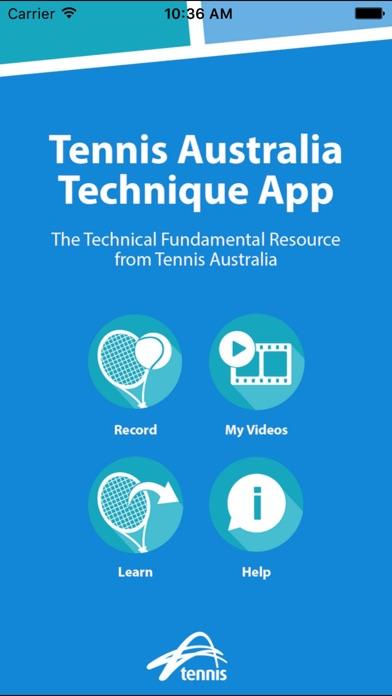 Tennis Australia Technique Screenshot 1