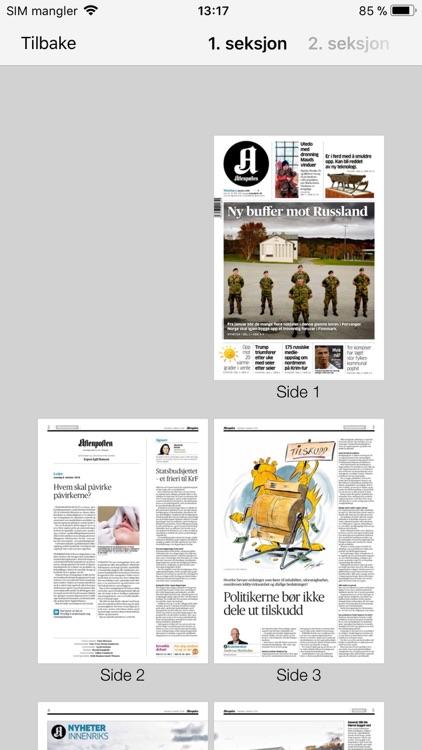 Aftenposten eAvis screenshot-4