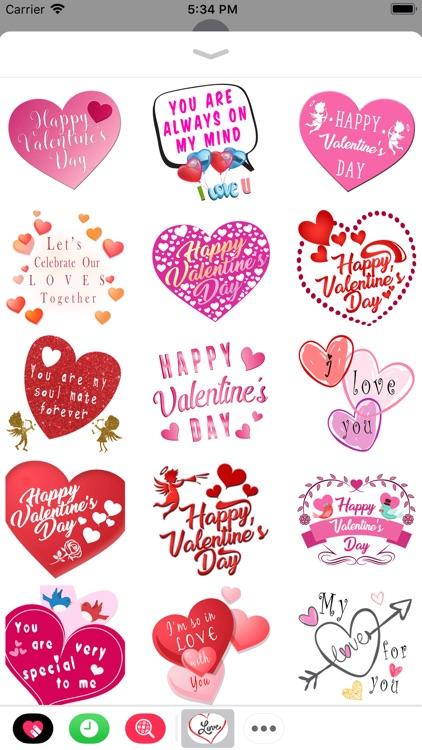 Romantic Valentine's Stickers