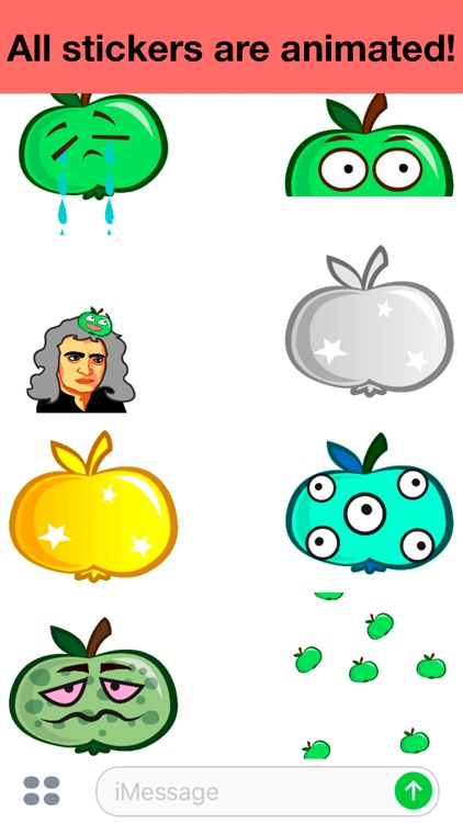 Apple animated - Cute stickers screenshot-4