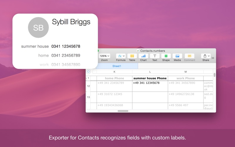 Exporter for Contacts Screenshots
