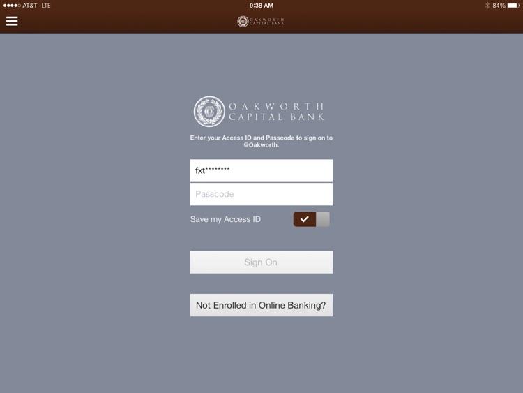 Oakworth Capital Bank iPad Version