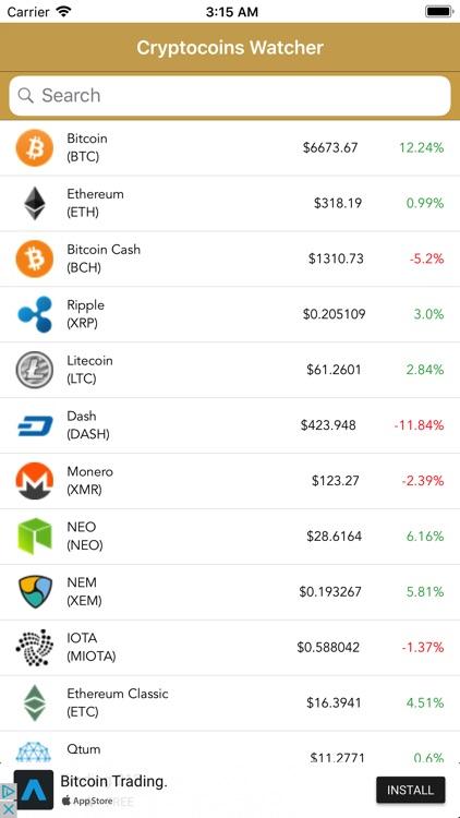 Crypto Coins Monitor & Advisor