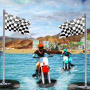水冲浪者自行车赛3D:夏季运动游戏
