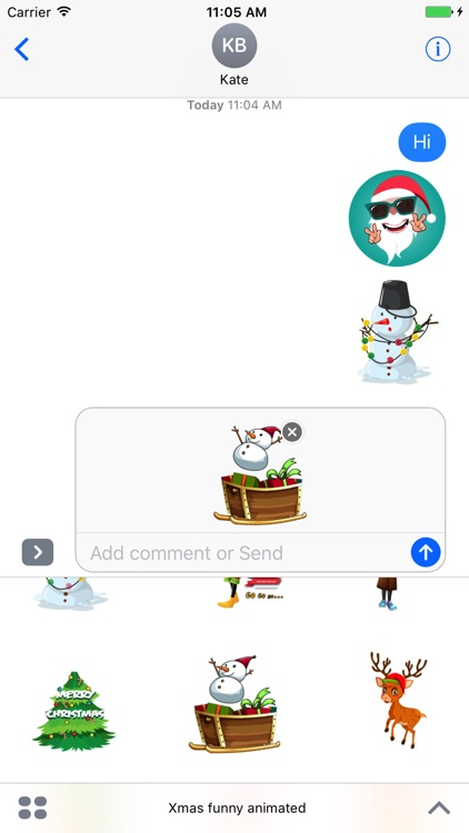 Xmas emoji animated stickers