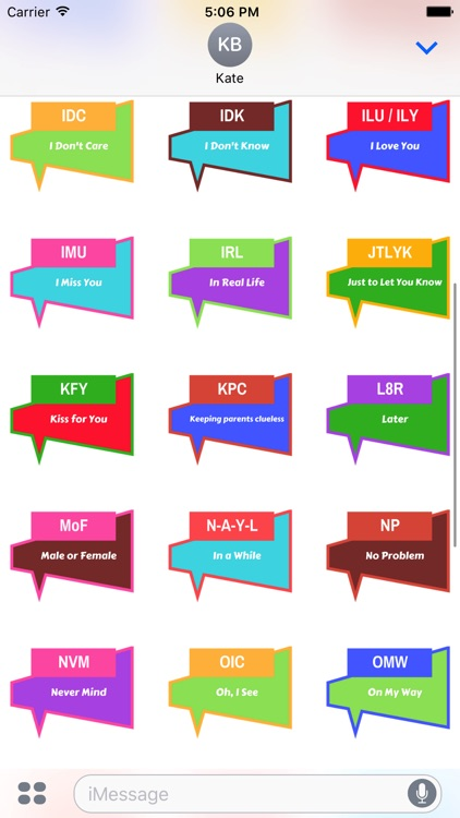 Slang Words Stickers