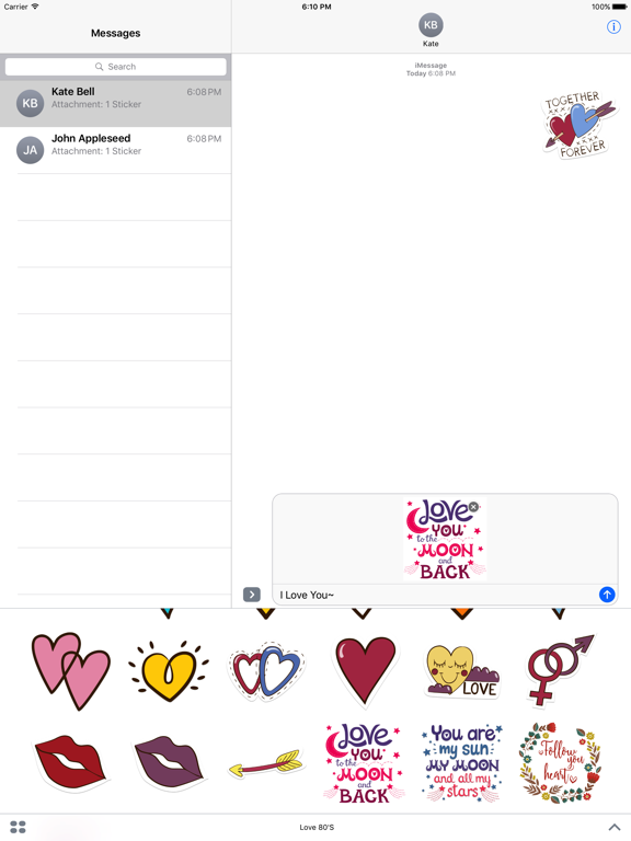 Love Stickers + Quotes - 80's Vintage & Retro Set screenshot 8