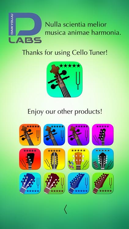 Cello Tuner Professional screenshot-5