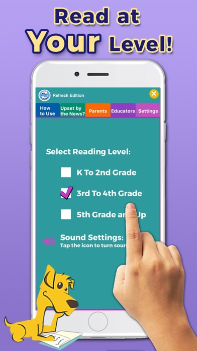 Screenshot #3 pour News-O-Matic: Reading for Kids