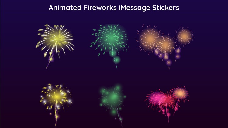 Animated Fireworks Party Text screenshot-3